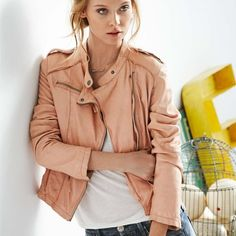 Lederjacke von OAKWOOD - Rosa... - Lifestyle and Me - Style-Finder Shop
