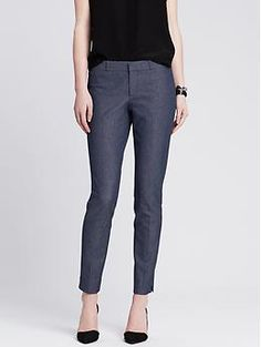 Sloan-Fit Textured Slim Ankle Pant | Banana Republic