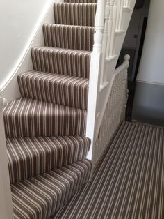 striped carpet on corner stairs - Google Search