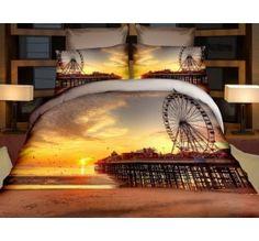 Pościel 3D PREMIUM 160 x 200 cm. Zachód Słońca -237-10