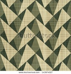 Abstract geometric textile print. Seamless pattern. Vector. - stock vector