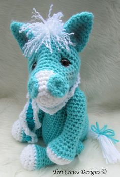 Crochet Pattern Cute Horse by Teri Crews Wool by TeriCrewsCrochet