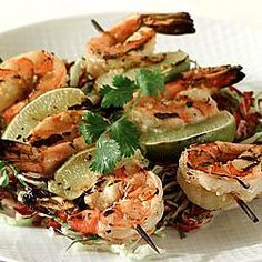 Barbecued shrimp with ginger and lime ~wolfgang puck~