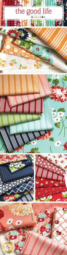 The Good Life is a cute summer collection by Bonnie & Camille for Moda Fabrics available at Shabby Fabrics.