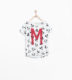Image 1 of Sequinned Disney T-shirt from Zara