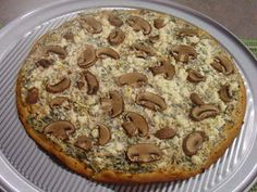 Spinach, Feta and Mushroom Pizza #recipe from WLUK FOX 11 Living with Amy Hanten. #recipes #video