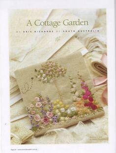 Cute for a journal little garden embroidery
