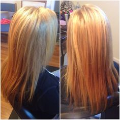 All over blonde with highlights
