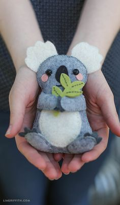 DIY Felt Koala Stuffie