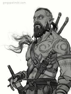 Warrior WiP by Greg-Opalinski.deviantart.com on @deviantART