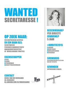 flyer wanted secretaresse