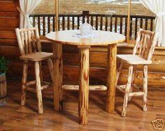 Amish Rustic Log Furniture: Log Bistro Outdoor Furniture   Rustic .