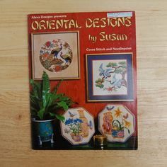 Oriental Designs Counted Cross Stitch Patterns  by TheVintageBook, $3.89