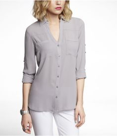THE CONVERTIBLE SLEEVE PORTOFINO SHIRT | Express