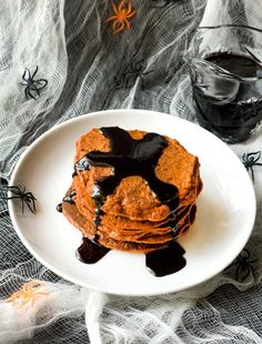 Gluten Free Pumpkin Pancakes with Cinnamon Syrup