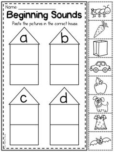 CVC Word and Sentence Reading Picture Match (Cut & Paste