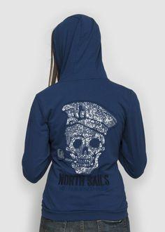 #NorthSails #collection #Spring #Summer #2014 #Woman #sweatshirt  #blue #white #Polyamid #hooded #fullzip #zip #jersey #collezione #cappuccio #felpa #collezione #donna #Primavera #Estate