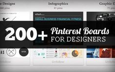 200+ Pinterest Boards for Designers to Follow