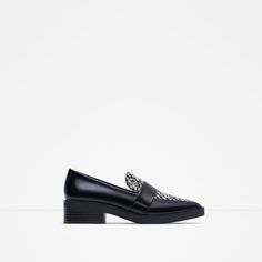 ZARA - SALE - COMBINED FABRIC LOAFERS