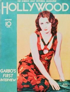 Barbara Stanwyck on the cover of Hollywood magazine, c. Hollywood Fashion, Hollywood Glamour, Classic Hollywood, In Hollywood, Retro Fashion, Barbara Stanwyck Movies, Colorful Movie, 1930s Makeup, Hollywood Magazine