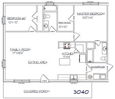 Tri County Builders Pictures and Plans - Tri County Builders - House Plans, Home Plan Designs, Floor Plans and Blueprints Pole Barn House Plans, Small House Floor Plans, Pole Barn Homes, Cabin Plans, Pole Barns, Metal Building Homes, Building A House, Metal Homes, Barn With Living Quarters