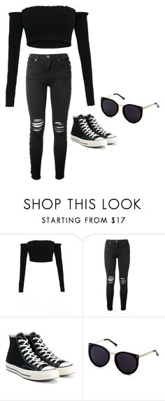 """""""-"""" by worstbiebehavior ❤ liked on Polyvore featuring AMIRI, Converse and 2017"""