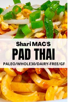 PALEO AND WHOLE30 CHICKEN PAD THAI has dense and chewy noodles that make this dish so satisfying! #paleo,#paleorecipes,#paleodinner,#Whole30,#Whole30recipes,#whole30dinner,#glutenfree,#glutenfreerecipes,#glutenfreedinner,#glutenfreerecipesfordinner,#antiinflammatorydiet,#antiinflammatoryrecipes,#grainfree,#grainfreediet,#grainfreerecipes,#grainfreedinner,#paleoandwine,#glutenfreeandwine,#dairyfreediet,#dairyfreerecipes,#dairyfreedinner, Best Paleo Recipes, Gluten Free Recipes For Dinner, Paleo Dinner, Whole 30 Recipes, Dairy Free Recipes, Lunch Recipes, Asian Recipes, Everyday Paleo, Dairy Free Diet