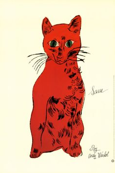 Red Cat from Twenty-Five Cats Print by Andy Warhol at Art.com