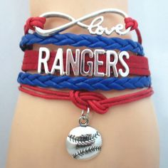 Infinity Love Texas Rangers Baseball - Show off your teams colors! Cutest Love Texas Rangers Bracelet on the Planet! Don't miss our Special Sales Event. Many teams available. www.DilyDalee.co