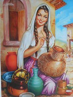 vintage mexican calendar girls - Google Search