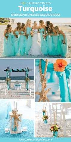 Lovely weddings sample for laying out a big memory. See this helpful image numbe. Beach Wedding Bridesmaid Dresses, Turquoise Bridesmaid Dresses, Beach Wedding Colors, Tiffany Blue Bridesmaids, Beach Weddings, Turquoise Coral Weddings, Turquoise Wedding Decor, Coral Wedding Decorations, Floral Wedding Invitations