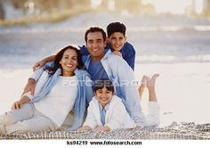 Beach family photo Stock Photos