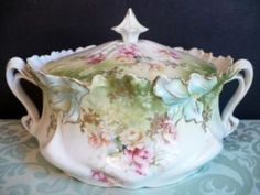 #Beautiful 19th century Prussian biscuit jar..I love R/S Prussia and have a lot!