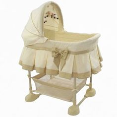 Arms Reach Harmony Bassinet - Gold Jaquard: This bassinet is unique in that it can be safely attached to the parents bed with the side rail down, so mom can nurse the new baby at night. Co Sleeper Bassinet, Best Bassinet, Bedside Sleeper, Baby Co Sleeper, Little Baby Girl, Baby Boy, Nursery Furniture, California King, Cribs