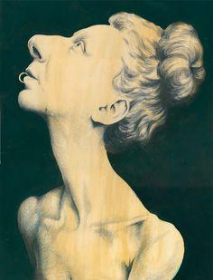 Rudolf Hausner, Self Portrait Rudolf Hausner, Tempera, Portrait, Surrealism, Contemporary Art, Goals, Fantasy, Fine Art, Statue
