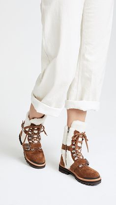 Sigerson Morrison Iris Shearling Buckle Boots | SHOPBOP