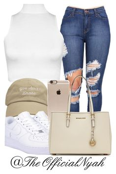 You ain't drake by theofficialnyah on Polyvore featuring polyvore, beauty, Incase, MICHAEL Michael Kors, WearAll and NIKE