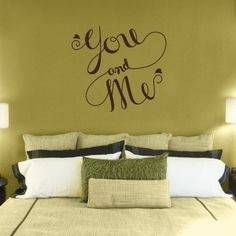 You & Me - Quote - Love - Wall Decals Stickers Graphics