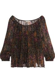 Mes DemoisellesKatarina crinkled printed georgette blouse