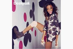 Toronto model Chantelle Brown-Young, who has the skin disorder vitiligo, is the face of Desigual's fall campaign.