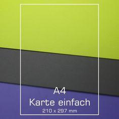 A4 Karte - Samt Matte - verschiedene Farben