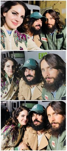 """Dec.9, 2017: Lana Del Rey with Alessandro Michele (creative director of Gucci) and Jared Leto """"friends at work"""" """"making magic"""" #LDR"""