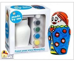 Purchase Paint Your Own Money Box at just $28.00 from Gifts2thedoor.com.au  #childrensgiftsdelivered