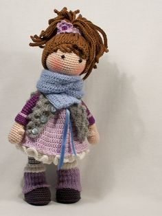 Crochet pattern for doll MIA Deutsch English by CAROcreated