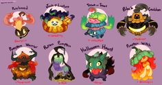 And another Poke variant sheet done. This time with our favorite pumpkin Pokemon! Link to my previous Pokemon Variation here!