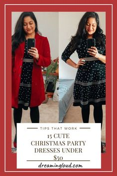 15 Cute Christmas Party Dresses Under $50 | dreamingloud.com __________ Holiday party dresses #christmasoutfit #holidayoutfits #holidaypartydress #holidaypartyoutfit #sweaterdress #jcpenney #dreamingloud #winterfashion #womensfashion Chic Winter Outfits, Winter Chic, Chic Outfits, Summer Outfits, Winter Style, Holiday Party Outfit, Holiday Party Dresses, Fashion Group, Office Outfits