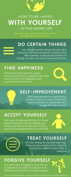 How to Be Happy With Yourself in This Short Life - We are only on this earth for a short amount of time. You can do certain things like eat right, exercise and avoid smoking to extend your life; however, in the grand scheme of things, it is still only a short amount of time. 1. Accepting Yourself As You Are 2. Treat Yourself 3. Forgive Yourself