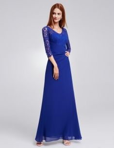 Ever-Pretty Long Formal Evening Dress Lace V-neck Bridesmaid Prom Dresses 08861 Evening Party Gowns, Long Evening Gowns, Mermaid Evening Dresses, Formal Evening Dresses, Dress Formal, Long Prom Gowns, Ball Gowns Prom, Prom Dresses, Bridesmaid Dresses Plus Size