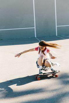 madewell denim boyshort worn with the vans® high-tops by our friend sierra. Skater Girl Style, Skater Girl Outfits, High Top Vans, High Tops, Surfboard Fins, Skateboard Girl, Skateboard Clothing, Skate Girl, Madewell Denim