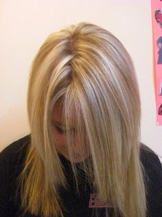 platinum highlights on blonde hair | natural blonde with platinum chunks of highlight through the hair ...